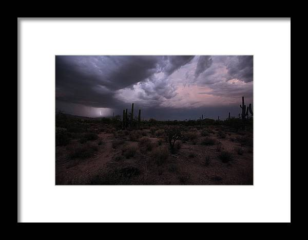 Lightning Framed Print featuring the photograph Lightning Strikes by Heather Strong