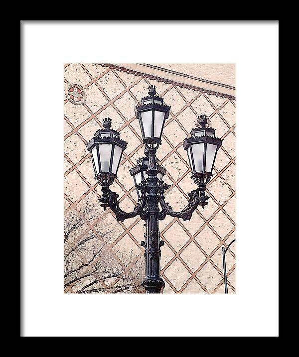Urban Framed Print featuring the photograph Lightpost by Carl Perry