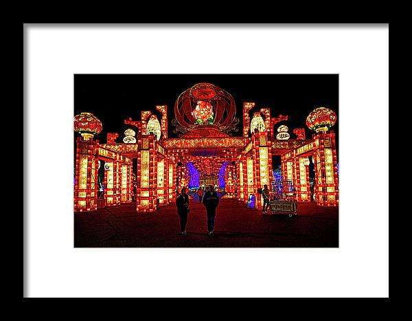 Lights Of The World Framed Print featuring the photograph Lights Of The World Hallway Of Fortunes by C H Apperson
