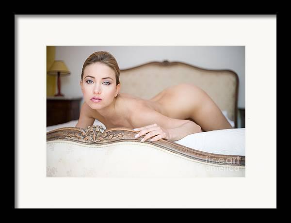 Sensual Framed Print featuring the photograph Like A Princess by Olivier De Rycke