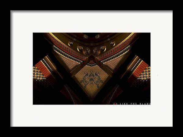 Piano Framed Print featuring the photograph Like The Blade by Jonathan Ellis Keys