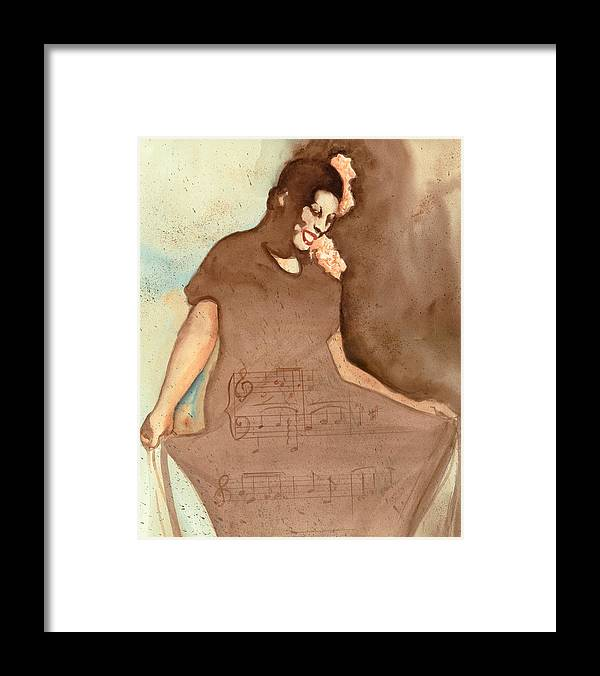 Portraits Framed Print featuring the painting L'il Green by Kay Robinson