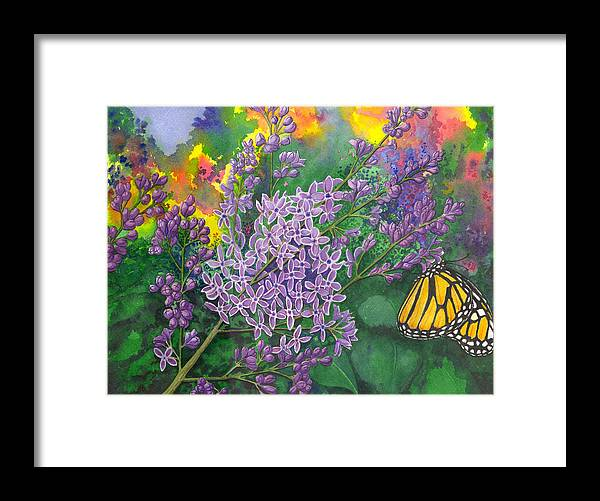 Lilac Framed Print featuring the painting Lilac by Catherine G McElroy