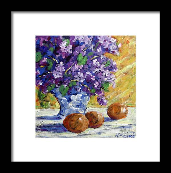 Art Framed Print featuring the painting Lilac by Richard T Pranke