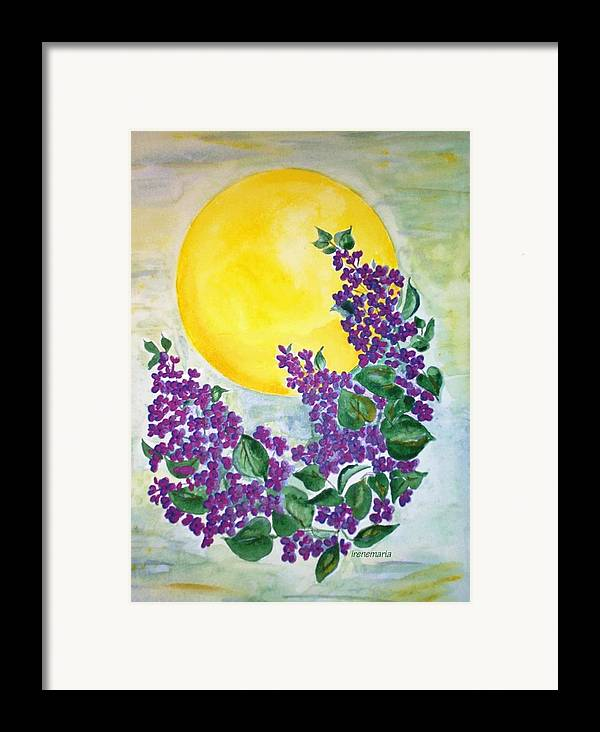 Lilacs In June Framed Print featuring the painting Lilacs In The Midnight Sun by Irenemaria