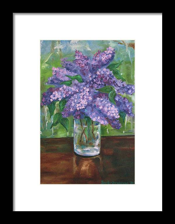 Lilacs Framed Print featuring the painting Lilacs by Jennifer Christenson