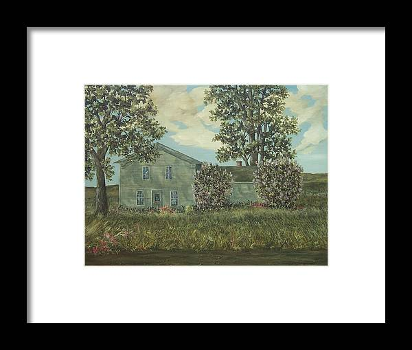 Lilacs Framed Print featuring the painting Lilacs by Robert Harrington