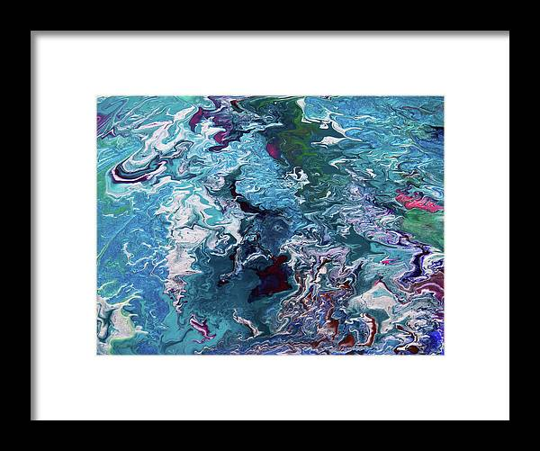 Fusionart Framed Print featuring the painting Lilies by Ralph White