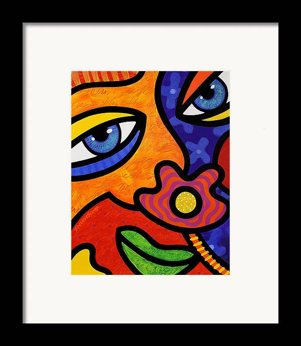 Eyes Framed Print featuring the painting Lilli Lilligrin by Steven Scott