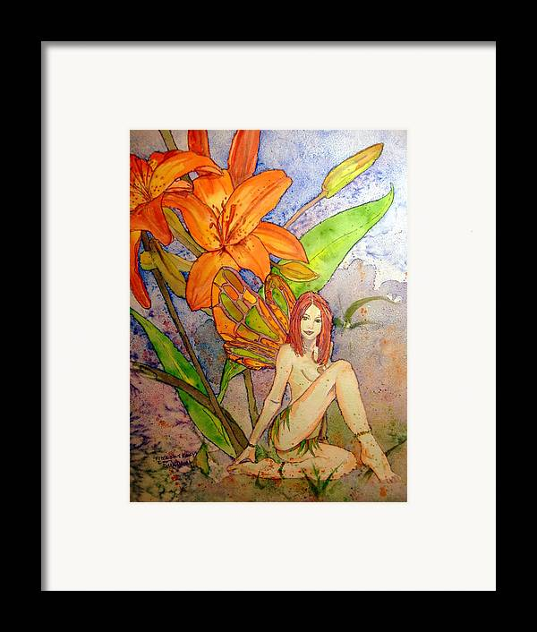 Faerie Framed Print featuring the painting Lillian Keeper Of Both Wealth And Pride - Watercolor by Donna Hanna