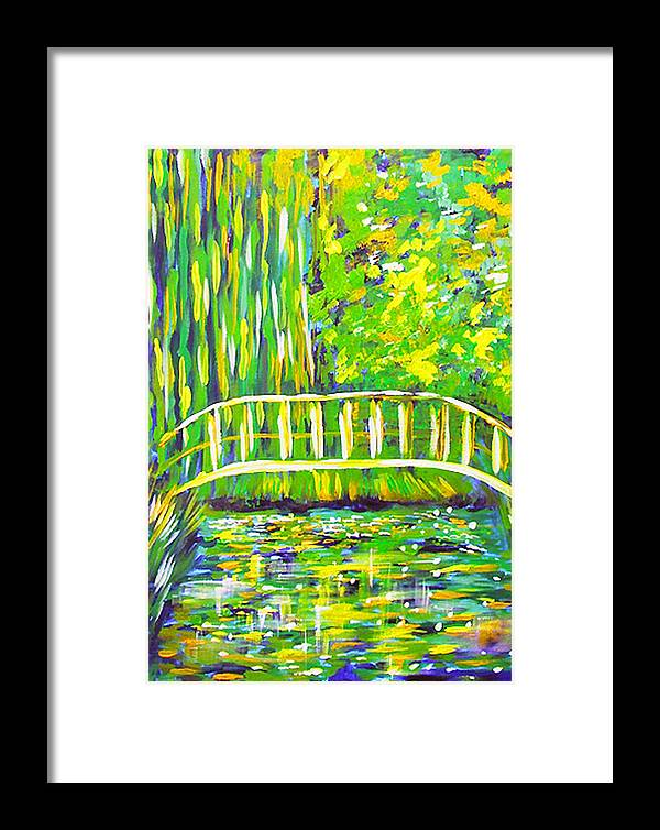 Lilly Pond Framed Print featuring the painting Lillies by Paul Sandilands
