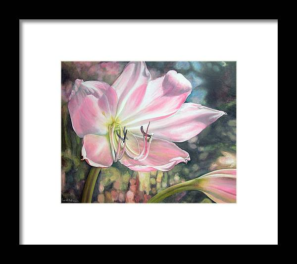 Floral Painting Framed Print featuring the painting Lily by Muriel Dolemieux