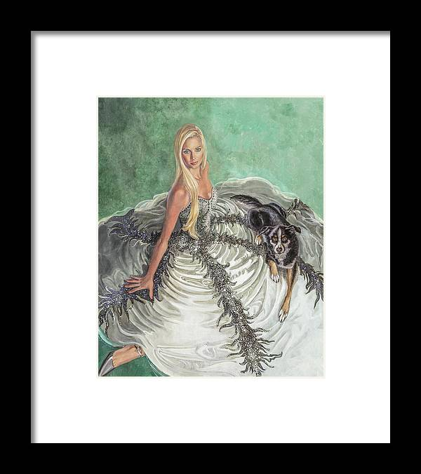 Fashion Illustration Framed Print featuring the painting Lily Pad by Barbara Tyler Ahlfield