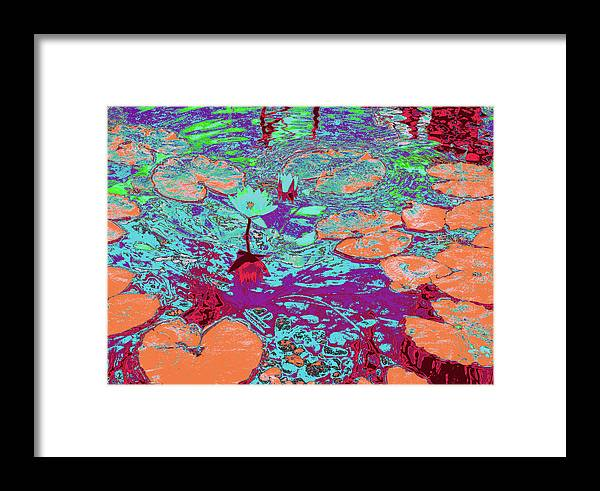 Pond Framed Print featuring the photograph Lily Pads And Koi 24 by Gary Bartoloni