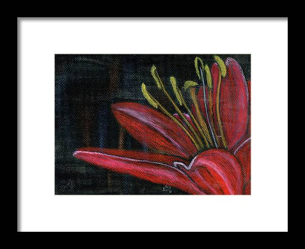 Pastel Framed Print featuring the painting Lily Red by Alexis Grone