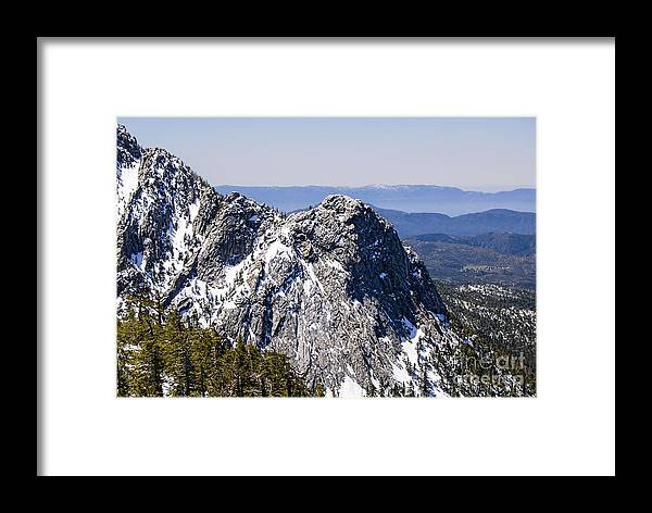Mt San Jacinto Framed Print featuring the photograph Lily Rock by Baywest Imaging