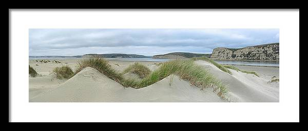 Landscape Framed Print featuring the photograph Limantour Spit On A Grey Day by Bob Bennett