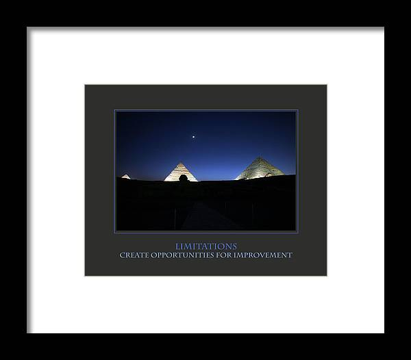 Motivational Framed Print featuring the photograph Limitations Create Opportunities For Improvement by Donna Corless
