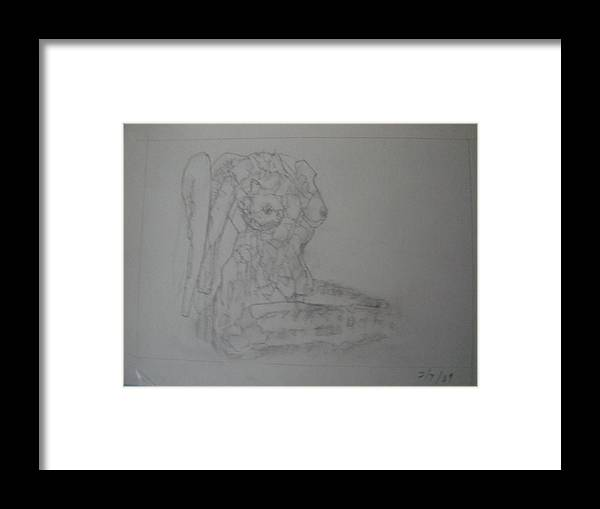 Female Nude Drawings Framed Print featuring the drawing Limulus Polyphemus by Dean Corbin