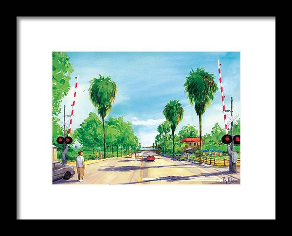 Linden Avenue Framed Print featuring the painting Linden To The Beach by Ray Cole