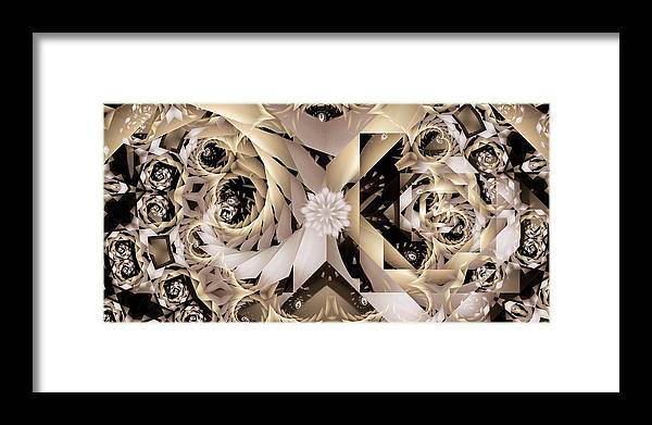 Abstract Framed Print featuring the digital art Linen and Silk by Ron Bissett