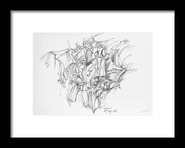 Forms Framed Print featuring the drawing Lines And Forms by Padamvir Singh