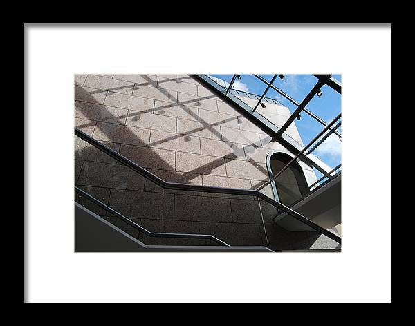 Framed Print featuring the photograph Lines And Reflections by Marilynne Bull