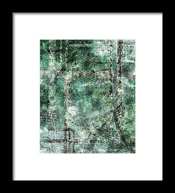 Abstract Framed Print featuring the painting Lines Of Communication by Sophia Elise