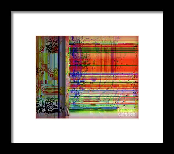 Framed Print featuring the mixed media Lines Of Illusion by Fania Simon