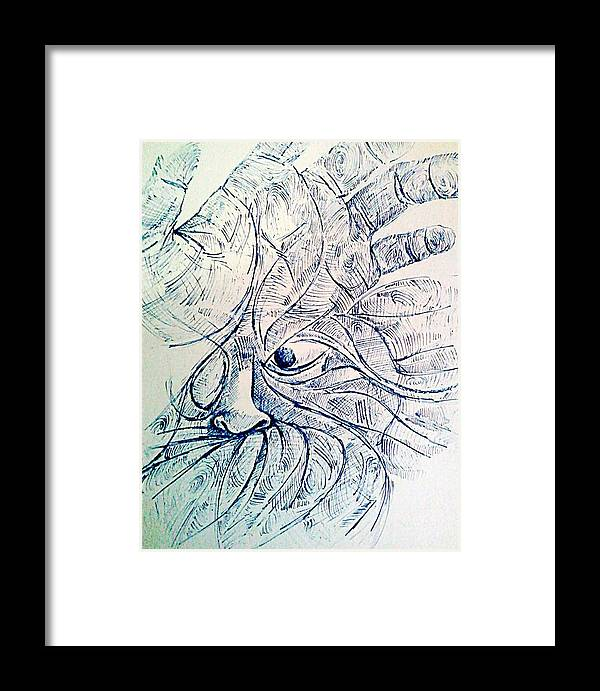 Lines Of The Hands Framed Print featuring the digital art Lines Of The Hands by Paulo Zerbato