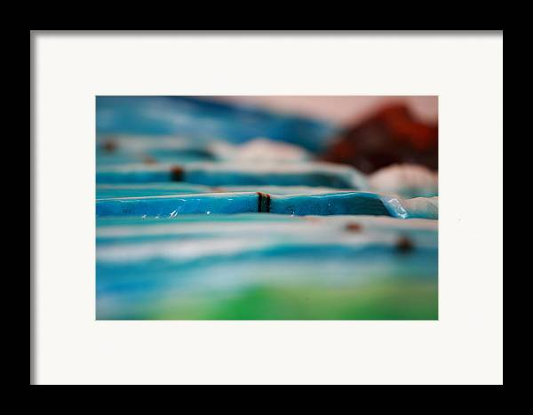 Surf Framed Print featuring the sculpture Lines by Ronnie Jackson