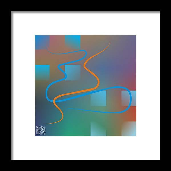 Abstract Framed Print featuring the digital art Linesoflife01 by Narayanan Krishnaswamy