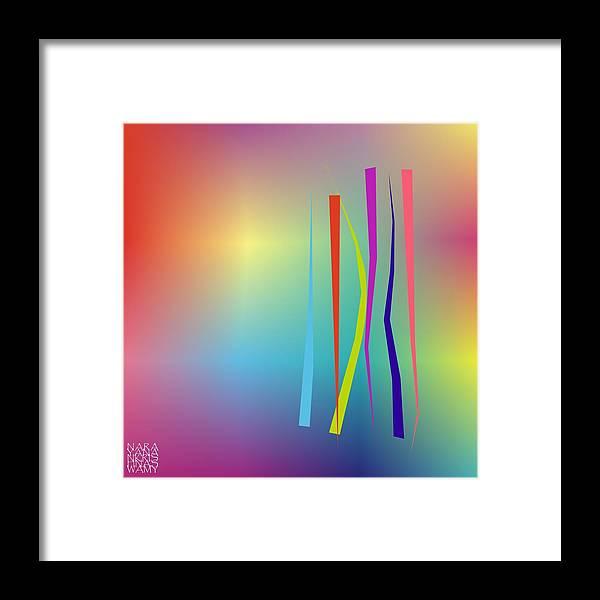Abstract Framed Print featuring the digital art Linesoflife18 by Narayanan Krishnaswamy