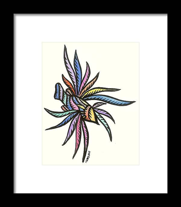 Framed Print featuring the painting Lion Fish Guam 2009 by Marconi Calindas