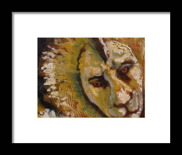 Lion Framed Print featuring the painting Lion three by J Bauer