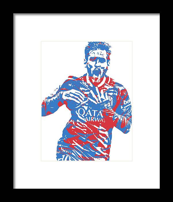 6ffd865136b Lionel Messi F C Barcelona Argentina Pixel Art 5 Framed Print by Joe  Hamilton