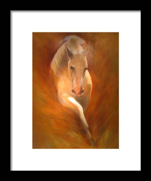 Horse Framed Print featuring the painting Lipizzaner by Elizabeth Silk
