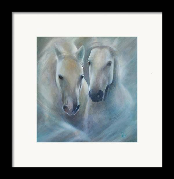 Horse Framed Print featuring the painting Lipizzaner Spirit by Elizabeth Silk