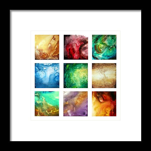 Wall Framed Print featuring the painting Liquid Color I By Madart by Megan Duncanson