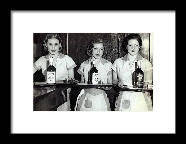 Prohibition Framed Print featuring the photograph Liquor Is Served - Prohibition Ends 1933 by Daniel Hagerman