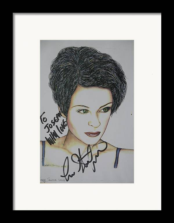Lisa Stansfield Framed Print featuring the mixed media Lisa by Joseph Lawrence Vasile
