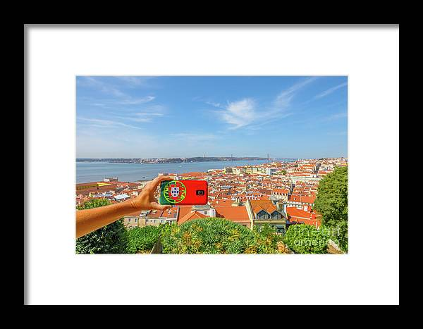 Lisbon Framed Print featuring the photograph Lisbon Pictures Aerial by Benny Marty