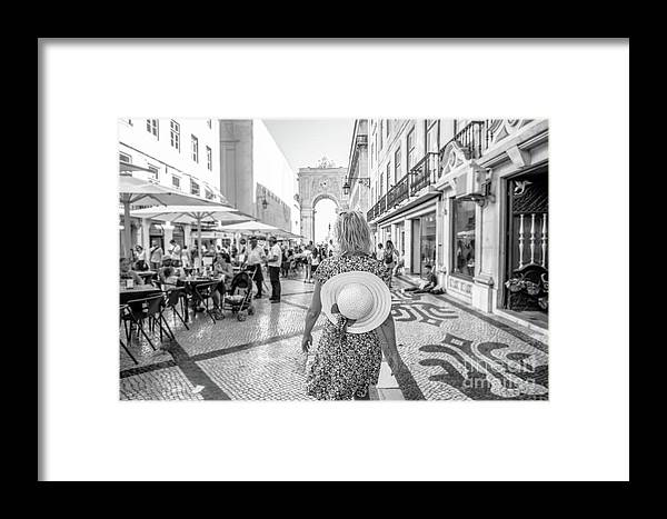 Lisbon Framed Print featuring the photograph Lisbon Woman Lifestyle by Benny Marty