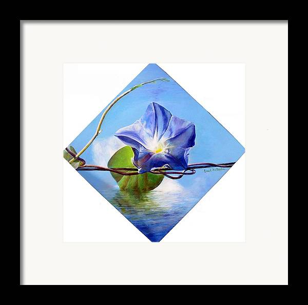 Floral Painting Framed Print featuring the painting Liseron by Muriel Dolemieux