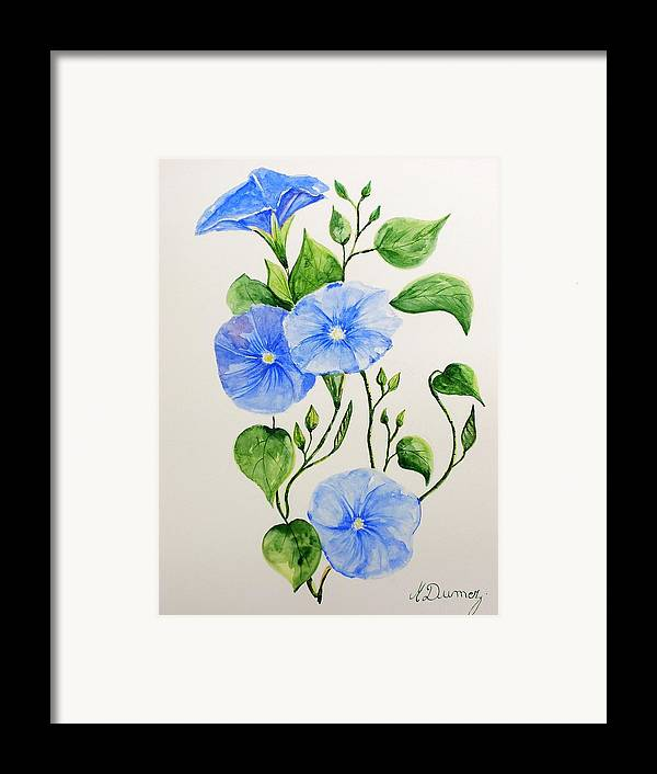 Flowers Framed Print featuring the painting Liseron by Murielle Hebert