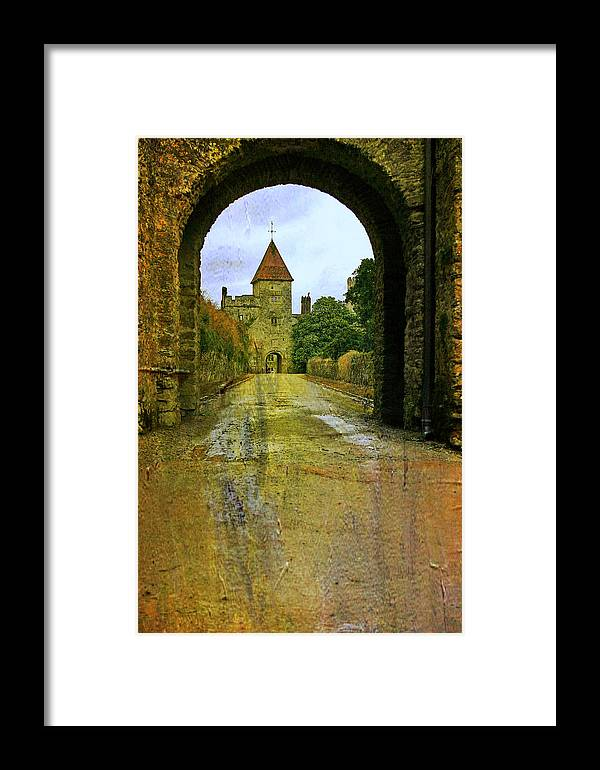 Lismore Castle Gate Framed Print featuring the photograph Lismore Castle Gate by Martina Fagan