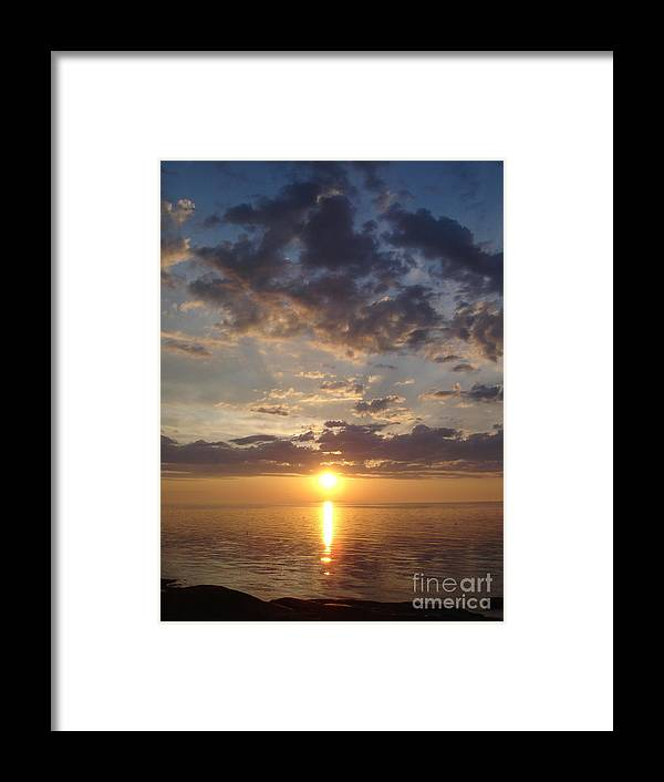 Sunset Framed Print featuring the photograph Lit Bay by Chad Natti