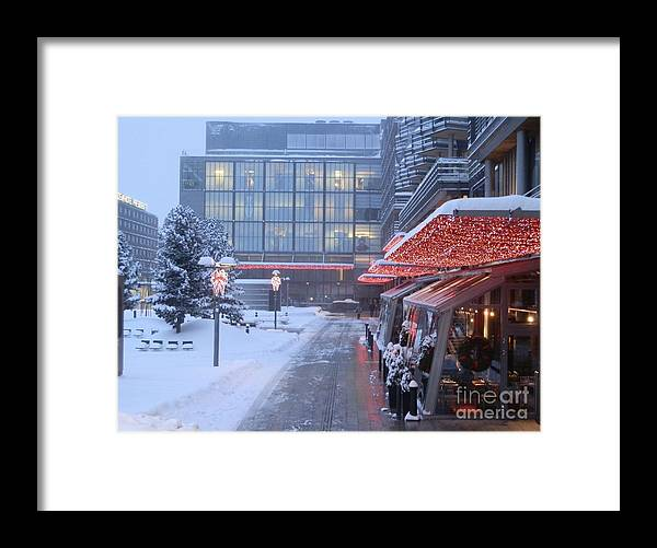 Helsinki Framed Print featuring the photograph Lit Up With Red by Margaret Brooks