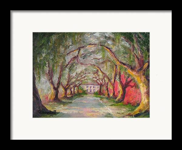 South Carolina Framed Print featuring the painting Litchfield Carriage House by Cecelia Campbell