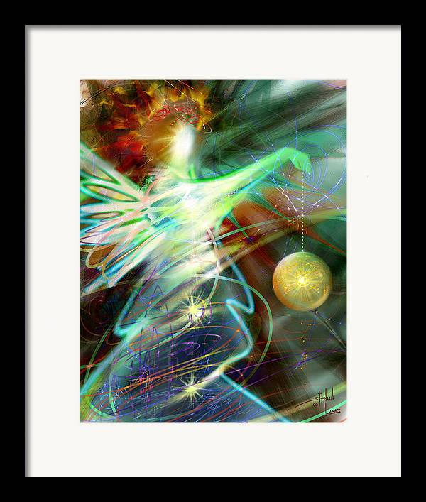 Angel Framed Print featuring the digital art Lite Brought Forth By The Archkeeper by Stephen Lucas